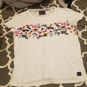 Like new superdry flower tshirt